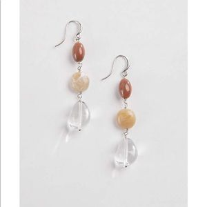 J.jill glass and stone linear earring